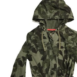 ❗️ Mossimo Camo Utility Drawstring Hooded Jacket M